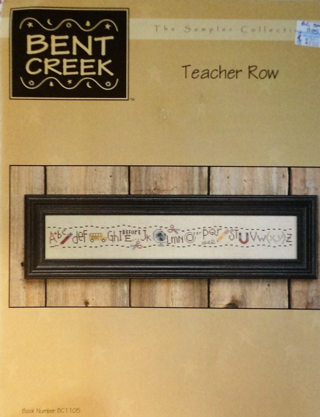 Bent Creek Teacher Row Alphabet Cross Stitch Chart Pattern BC1105
