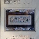 The Drawn Thread A House In the Country Primitive Sampler Cross Stitch Chart with Fish Charm