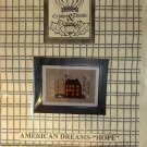 Crown & Thistle American Dreams Hope Primitive Sampler Cross Stitch chart pattern