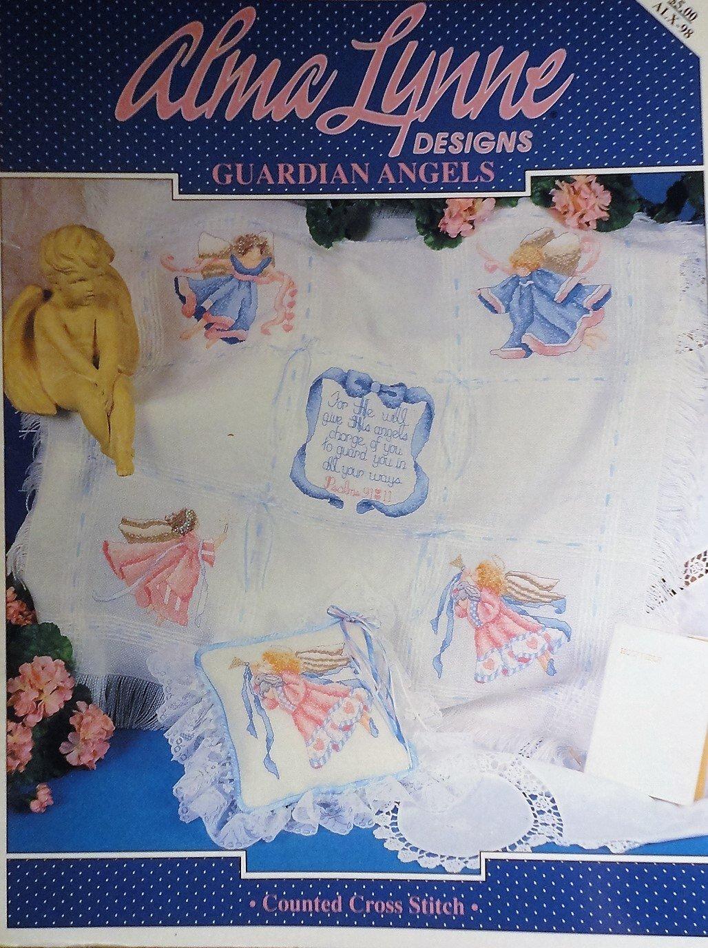 Alma Lynne Guardian Angels Cross Stitch chart pattern alx-98