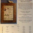 The Homespun Elegance Sampler cross stitch chart Sheep Button Sampler (Chart only)