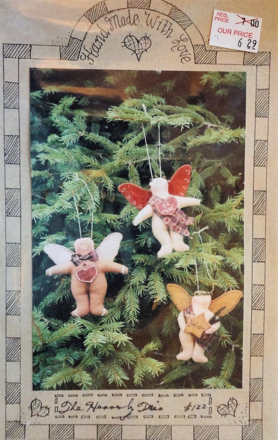 Angel Ornaments The Heavenly Trio Sewing Pattern from Handmade with love.