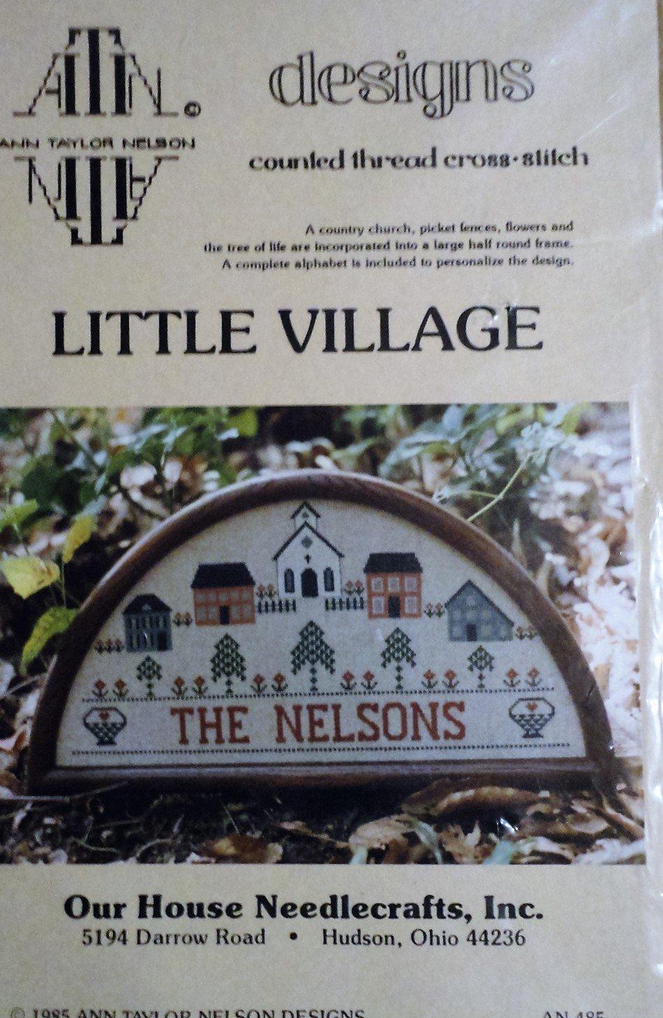 Little Village Sampler Cross Stitch from Ann Taylor Nelson Designs