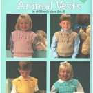 Leisure Arts 497 Quick to Knit Animal Vests  Designed by Barbara Boulton