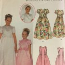 Flower Girl Jr. Bridesmaid Dress Communion Veil Sewing Pattern Simplicity  7066 Sizes 7 - 14