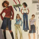 Jeans and t-shirts sewing pattern McCall's 3731 Junior Sizes 3/4 5/6 7/8 9/10