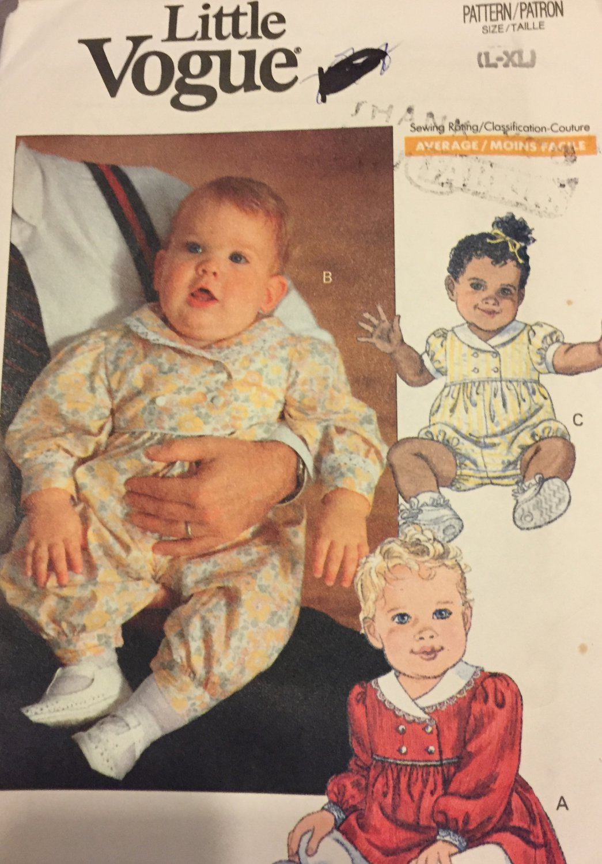 Vogue 7680 baby dress jumpsuit romper Little Vogue Size L - XL