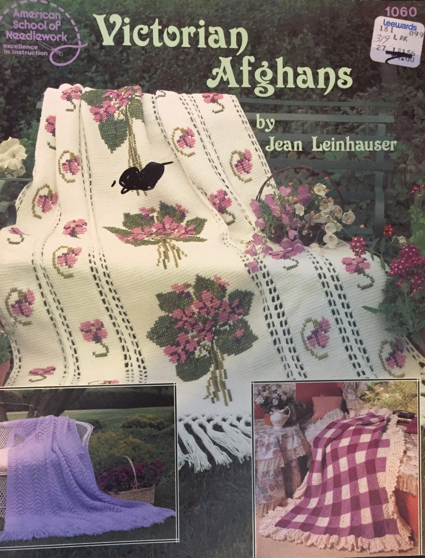 Victorian Afghans by Jean Leinhauser 1060 American School of Needlework