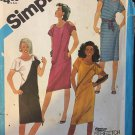 Simplicity 6452 Pullover Dress with shoulder Cut-outs Sewing Pattern size 12