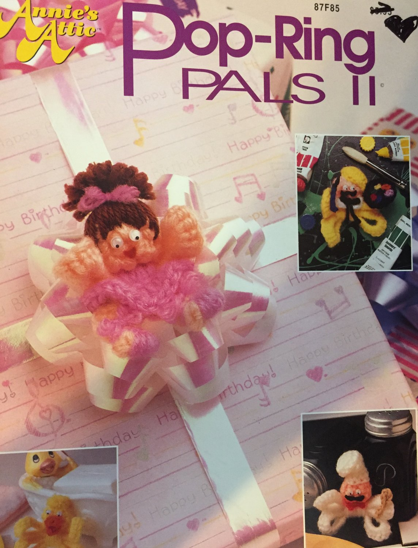 Annie's Attic  Pop Ring Pals  87F85 crochet pattern