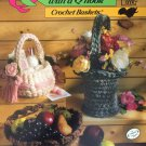Annie's Attic  651A Quick & Easy with a Q Hook Crochet Baskets