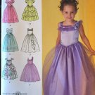 Flower Girl Jr. Bridesmaid Dress Sewing Pattern Simplicity 2463 Sizes 5 - 8
