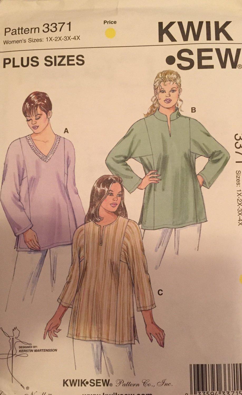 Kwik - Sew 3371 Women's Tunic sewing pattern Plus Sizes 1X to 4X SOLD OUT