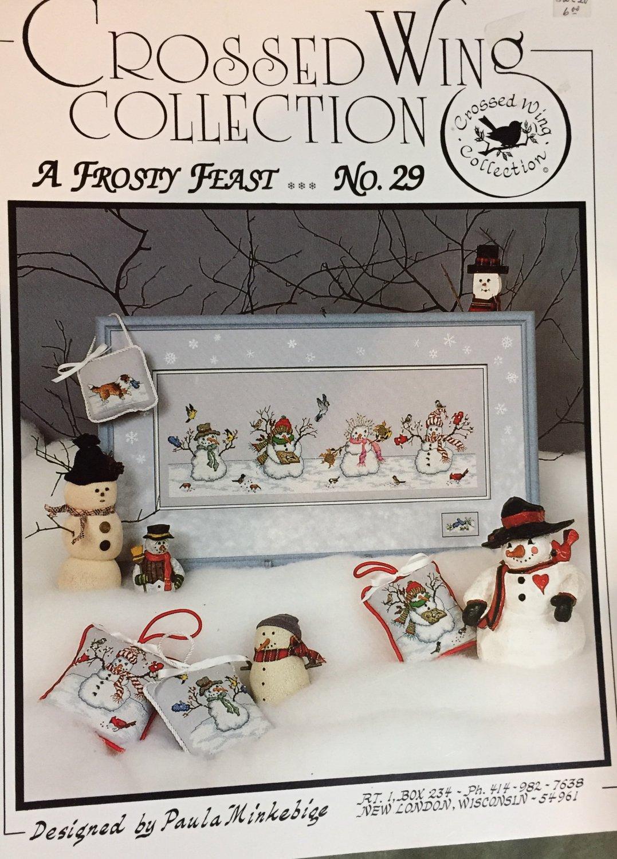 A Frosty Feast No. 29 Crossed Wing Collection By Paula Minkebige Cross Stitch Pattern