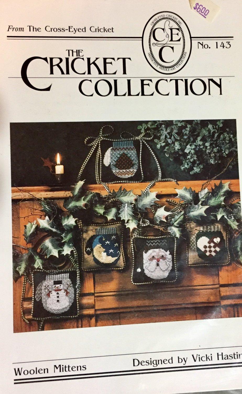 The Cricket Collection 143 Woolen Mittens cross stitch pattern