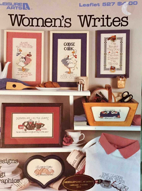 Leisure Arts 527 Cross Stitch Pattern Woman's Writes