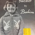 Bunny Sweater by Beehive Graph Style Knitting Pattern Child Sizes 2, 4, 6
