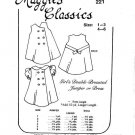 Maggie's Classics Double-Breasted Jumper or Dress Sewing Pattern #221 Size 4-6