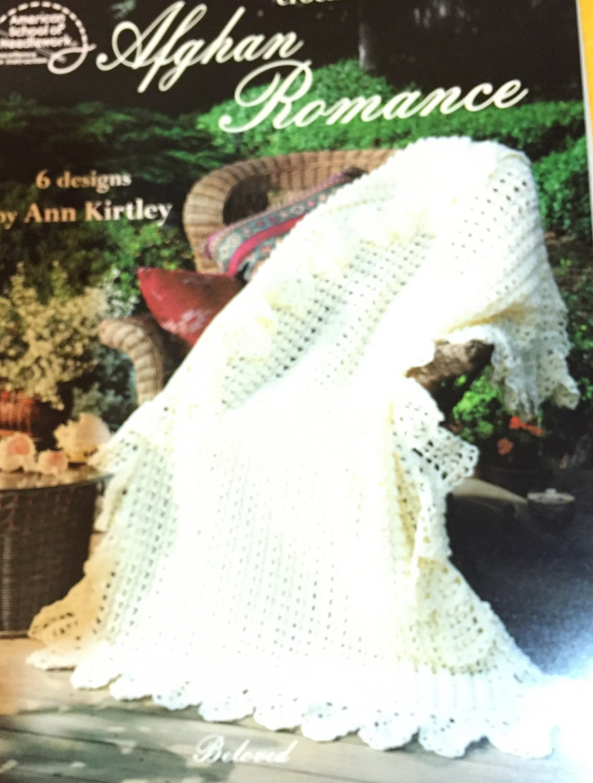 Afghan Romance American School of Needlework 1120  Blanket Afghans  Crochet Pattern