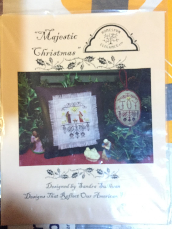 The Homespun Elegance Sampler cross stitch chart Majestic Christmas (Chart only)