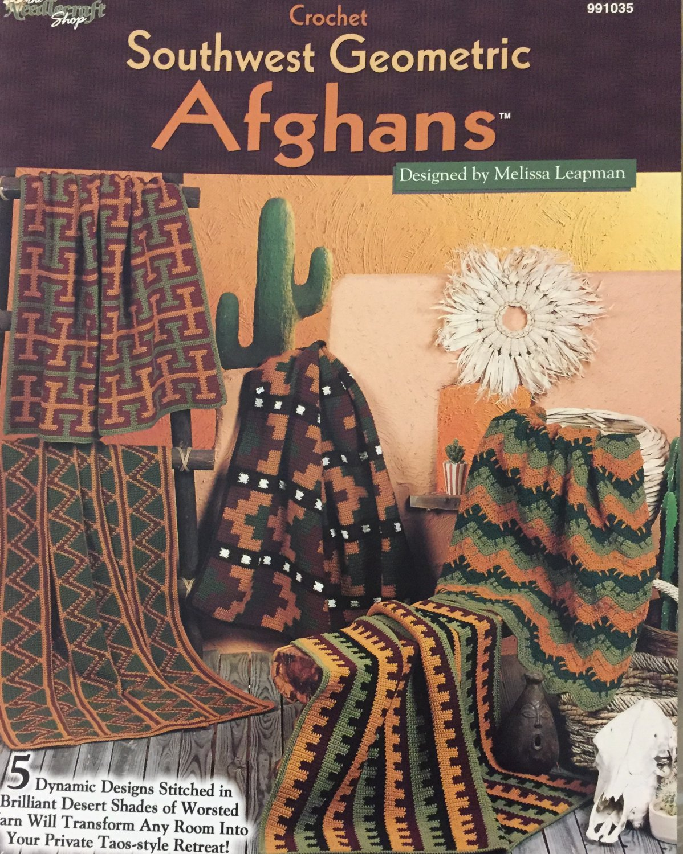 The Needlecraft Shop 991035 Southwest Geometric Afghans Crochet 5 Designs