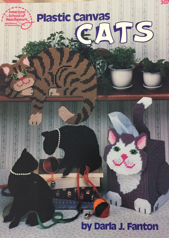 Cats Kitties Plastic Canvas Pattern American School of Needlework 3073