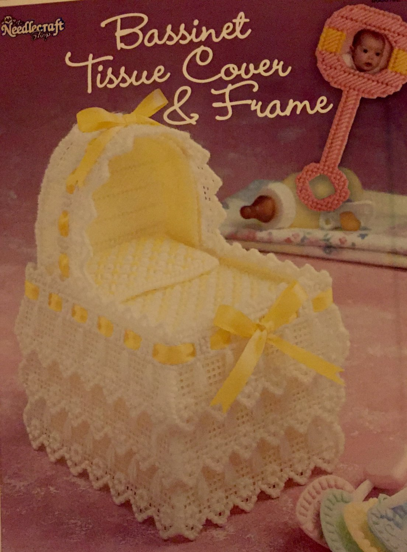 Bassinet Tissue Cover & Frame Plastic Canvas Pattern The Needlecraft Shop 888019E