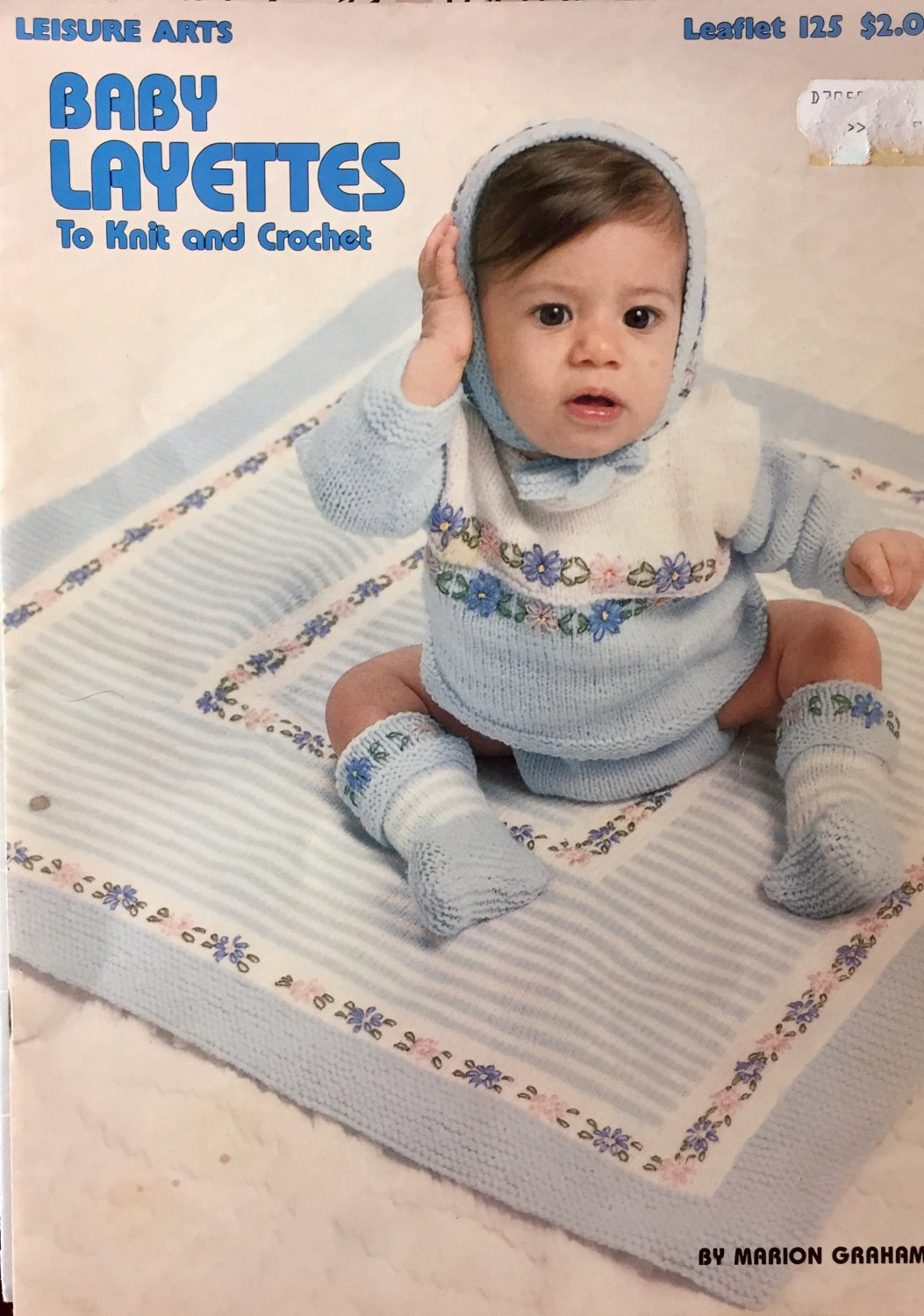 Baby Layettes Crochet Knit  Pattern Leisure Arts Leaflet 125 By Marion Graham SOLD OUT!