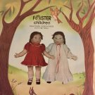 "Foster Children Doll Clothing Nightgown Robe Dress 1983 Elf Patterns sewing pattern 26"" Doll size"