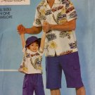 Butterick 3100 Sewing Pattern Father and Son Matching Shirt Shorts Hat All Sizes Included