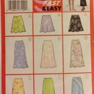 Butterick Sewing Pattern 5431 Misses' and Misses' Petite Skirt, (6,8,10)