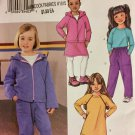 Butterick 3566 Children's Girls' Top  Dress Pants Hoodie Jacket Size 6 7 8