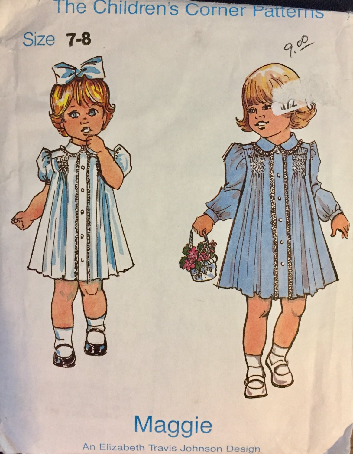 The Children's Corner Sewing Pattern  with Smocking Maggie Sizes 7-8