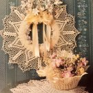 Annie's Attic 3 in 1 Doilies thread Crochet Pattern 8B022 Wreath  Boil Doily Diamond pattern