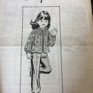 VINTAGE Mail Order Pattern 7450 Child's Crochet Jacket Pineapple pattern