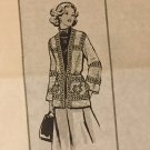 VINTAGE Mail Order Pattern 7053 Woman's Crocheted Cardigan Rose Squares Sizes 8 - 18