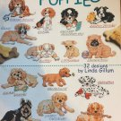 An Encyclopedia of Puppies Cross Stitch 32 designs  American School of Needlework 3734