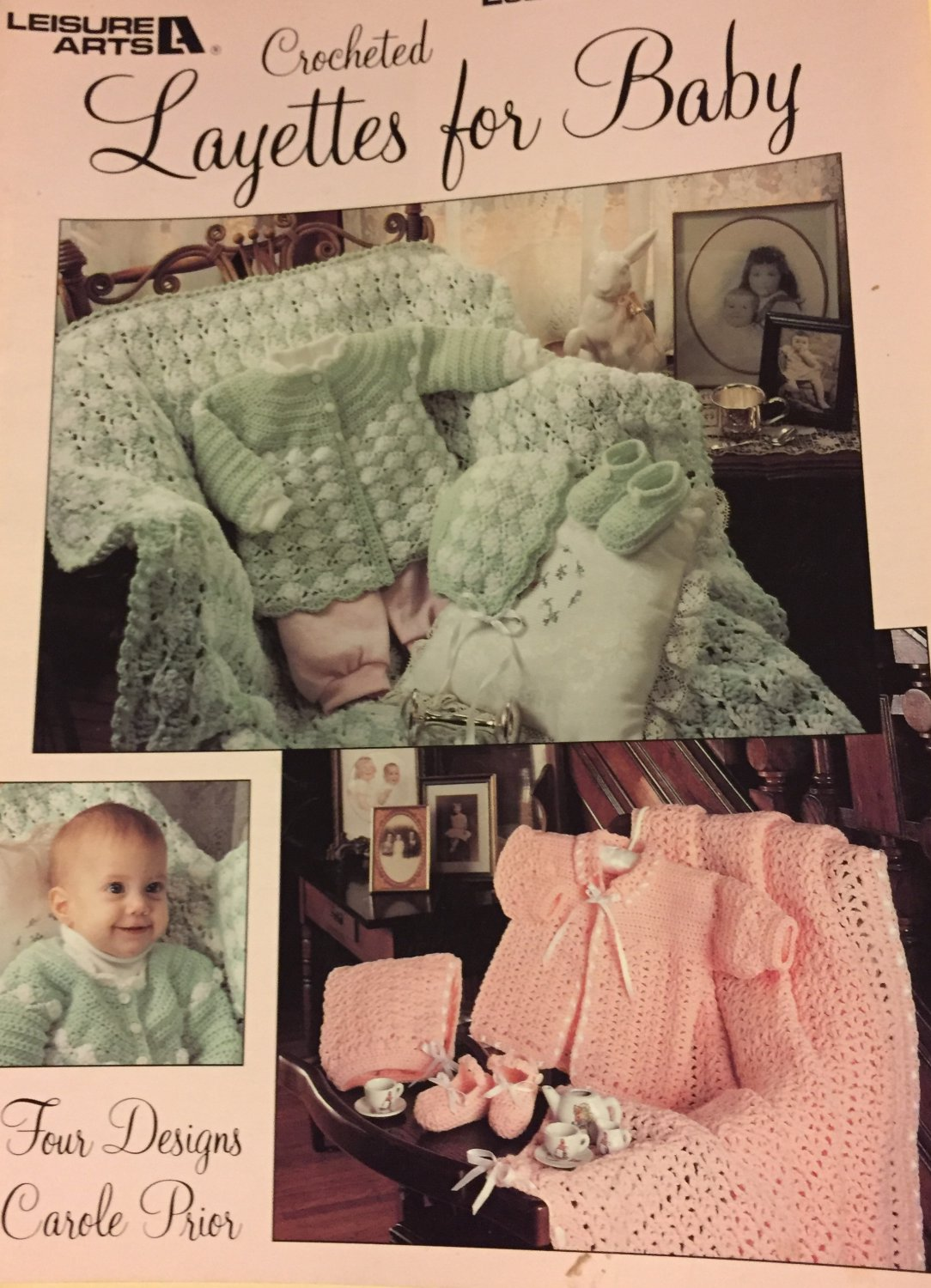 Leisure Arts 2019 Crocheted Layettes  for Baby  Crochet Pattern