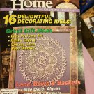 Crochet Home Magazine number 28 April May 1992 Lace Bows Basket