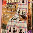 Crochet Home Magazine number 45 February March 1995 Cat Afghan Doilies