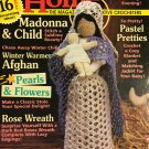 Crochet Home Magazine number 44 December January 1995 Madonna and child, Rose Wreath