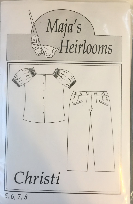 Maja's Heirlooms Christy Smocking Sewing Pattern sizes  5-8
