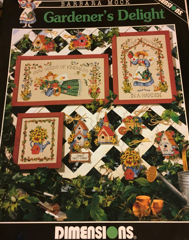 Gardener's Delight Cross stitch Pattern  book 246 Dimensions