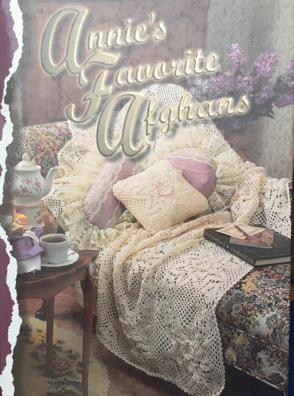 Annie's Favorite Afghans crochet patterns 50 designs HC book by Annie's Attic