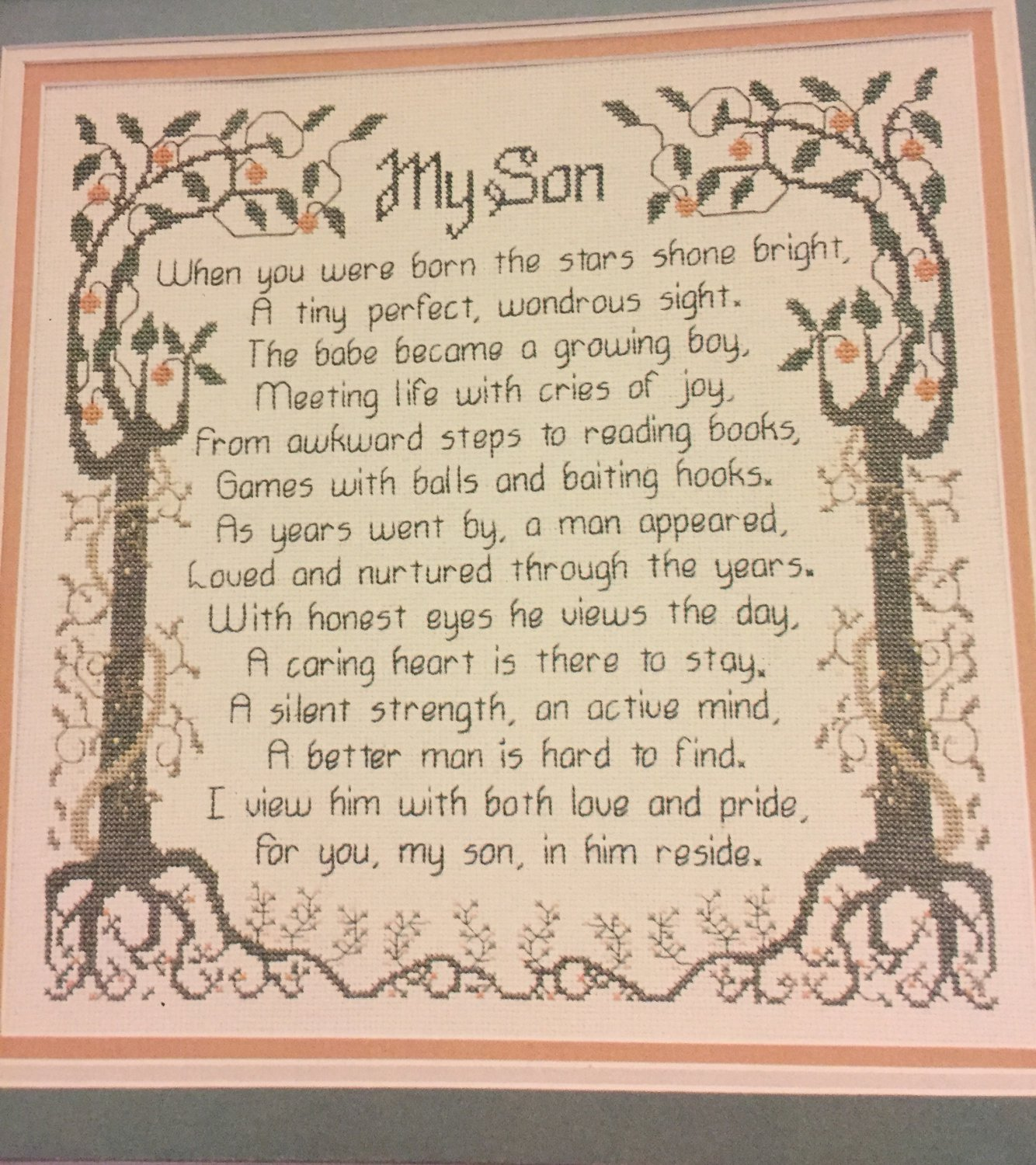 My Son Cross stitch Pattern CSL9 Designs by Melinda SOLD OUT!