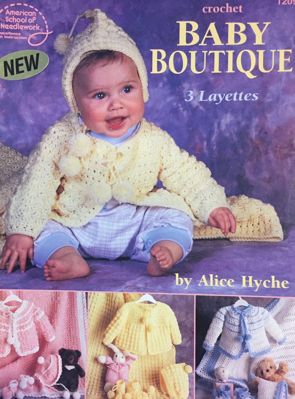 Baby Boutique Layette Sets American School of Needlework Crochet Pattern Booklet 1209