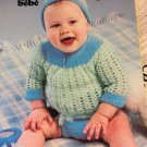 Baby Babies Infants Sweaters  Patons Pretty  Knitting Crochet pattern 7420 Kitten hat for baby