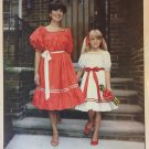 Peasant Stye Party Dress  Sewing Pattern  Smocking Unlimited Child Sizes 2 - 14 Ladies 6-16