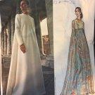 Vintage 1970s Vogue Couturier Pattern Fabiani 2537 Evening  gown Size 10