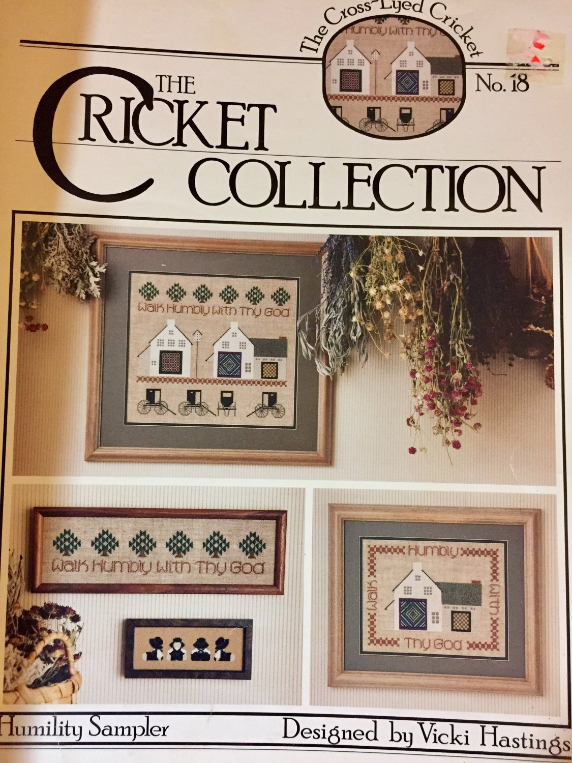 Cross Stitch Pattern The Cricket Collection No.18 Humility Sampler